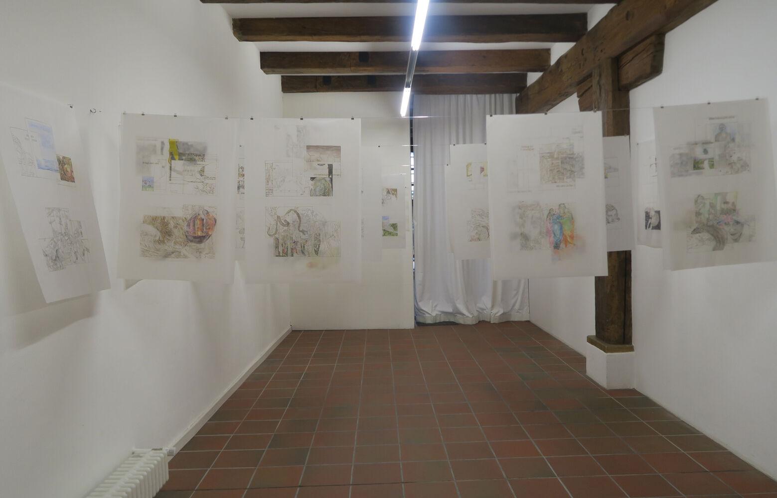 Ausstellungsansicht Kathrina Rudolph Zwei Seiten: Zufallsgeschichten