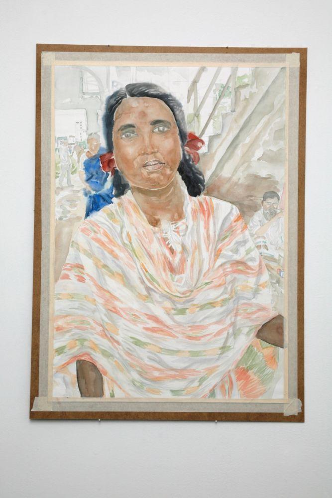 "Aus der Serie ""Frauen aus Bangladesch II"", Aquarell auf Papier, 100 x 70 cm, 200"