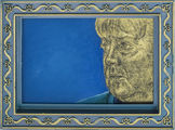 Angela Merkel Portrait Malerei Hinterglas