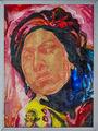 Amy Winehouse Portraitmalerei Hinterglas