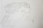 Kathrina Rudolph kohlezeichnung auf wand detail